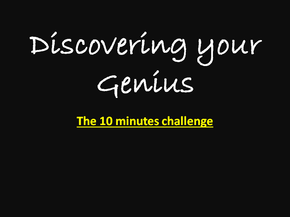 Discovering Your Genius